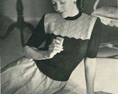 Four Larger Sized Jumpers, c.1940s - Vintage Knitting Pattern booklet PDF