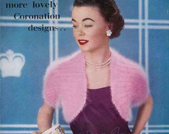 Stitchcraft May 1953, the Coronation Issue - Vintage Knitting Pattern booklet PDF