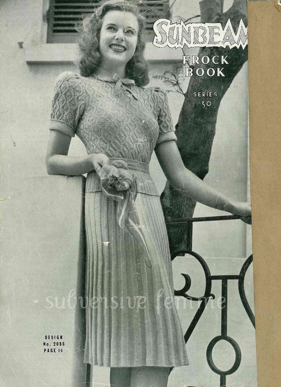 Sunbeam Knitting Patterns : Sunbeam Frock Book, 11 designs c.1942 - Vintage Knitting Pattern booklet PDF ...