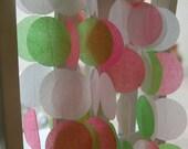 Tissue Paper Garland, Party Garland, Birthday Garland, Wedding Garland, Strawberry Garland, Photo Backdrop - Strawberry