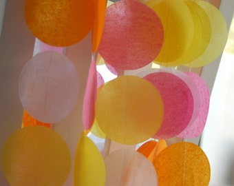 Tissue Paper Garland, Party Garland, Birthday Garland, Wedding Garland, Shower Garland, Spring Garland, Photo Backdrop - Spring