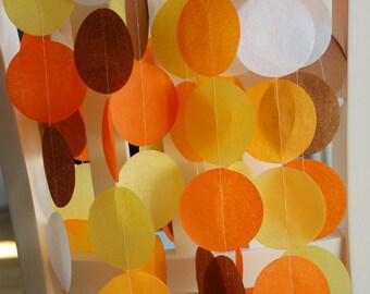 Tissue Paper Garland, Party Garland, Birthday Garland, Halloween Garland, Autumn Garland, Fall Garland, Thanksgiving Garland:  Autumn