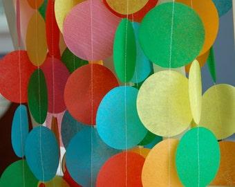 Tissue Paper Garland, Party Garland, Birthday Garland, Wedding Garland, Photo Backdrop - Rainbow 2