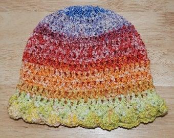 3-6 Month Multi Stripe Baby Hat