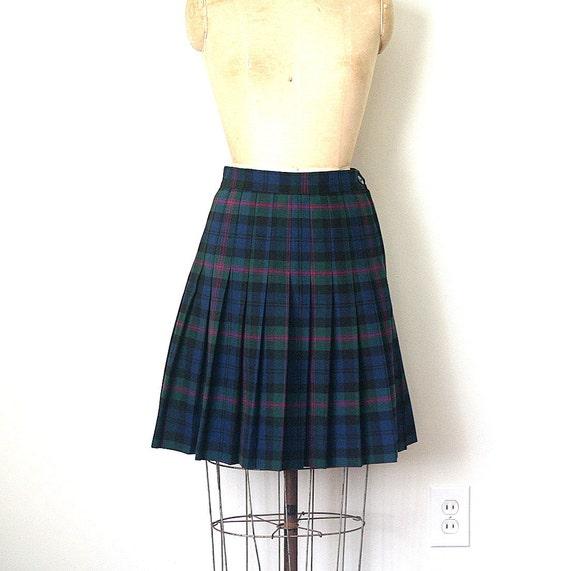 catholic school girl SKIRT / UNIFORM  tartan plaid PREP cosplay / harajuku . ladies s - m