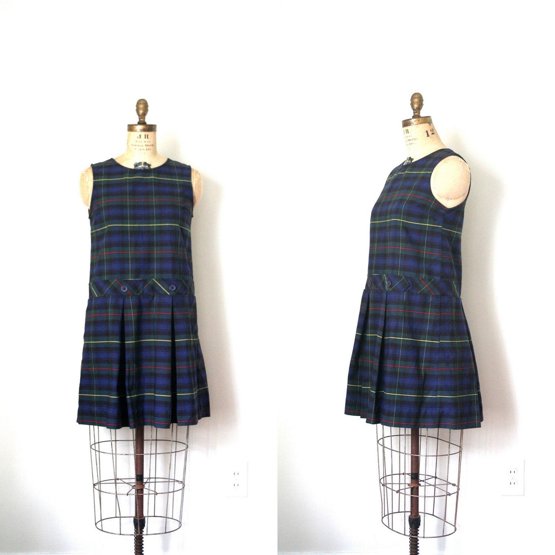 Blue Plaid Pleated Skirt 34