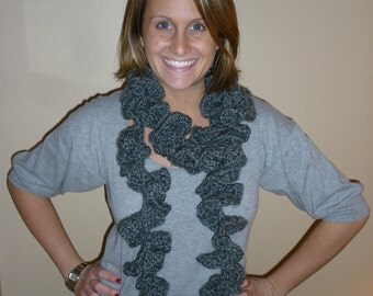 Swirly Scarf - Grey