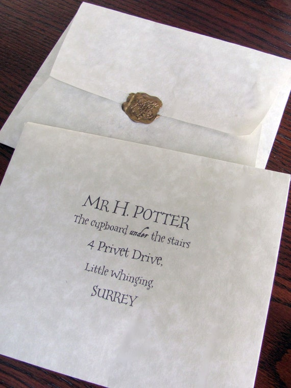 Custom Hogwarts School Of Witchcraft And Wizardry Acceptance
