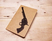Colt Peacemaker Blank Notebook Moleskine Journal - Pocket Size - Hand Carved Stamp