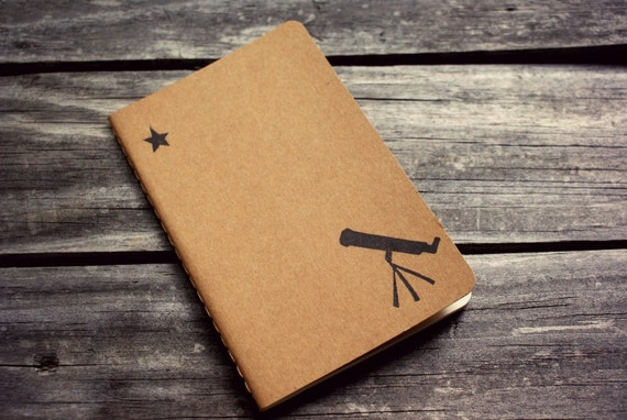 Telescope to the Stars Moleskine Notebook Journal - Pocket Size Notebook Back to School