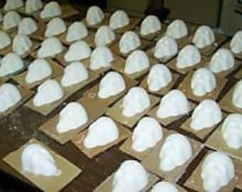 One Dozen Medium Day of the Dead Sugar Skulls, White