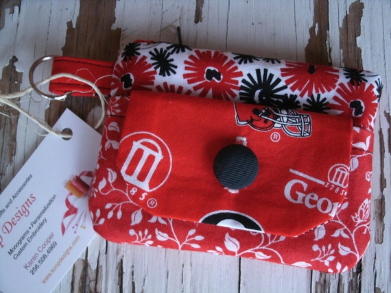 University of Georgia Fabric Wallet with Zipper Pouch
