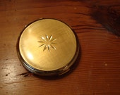 Simple Elegance: MINT Classic Stratton English-Made ALL BRASS Vintage Compact - Never Used