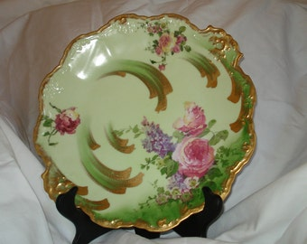 Gorgeous Double SIGNED Rare Vintage Hand-Painted Signed LIMOGES PORCELAIN China Charger/Plate - Early 1900's - Treasury Item