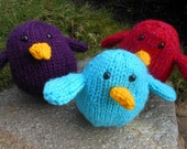 made to order stuffed hand knit bird toy