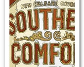 flavors of new orleans label paintings - 11x14 ART PRINT - Southern Comfort