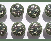 8 set  GREEN CAMO boys kids baby mtm bedding Dresser Drawer Knobs