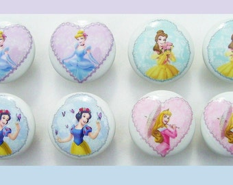 8 Princess Pastels Pearls kids girls Dresser Drawer Knobs