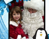 DIGITAL PHOTO CARDS - Christmas Cards - Penguin - Printable Holiday Photo Card