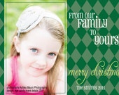 PHOTO CARDS - From our Family to Yours - Digital Printable Holiday Cards - Christmas Photo Card