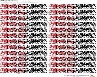DAMASK Love Drink Straw Flags DIY Printables