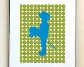 Cowboy Art Print - Modern Nursery Art Print, Cowboy Nursery Decor