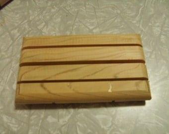 wooden cedar soap dish