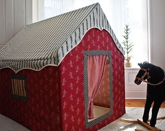 posh play the Old West cowboy playhouse tent