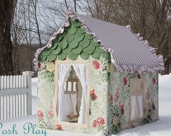 Custom small Bella Posh Play fabric playhouse, ask about our similiar products