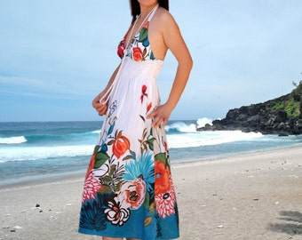 Floral summer women dress/Sundress/strapless/women tank tops/holiday dress/backless dress