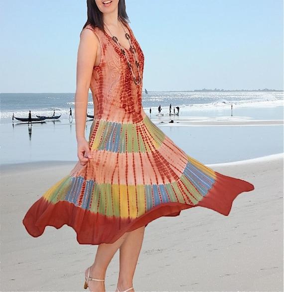 Batik dresses/Women dresses/ladies dresses/  Tie dye dress