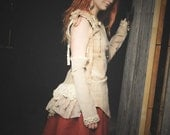 Steampunk dress, Victorian costume, Size Medium - Large M / L, Steam punk outfit, skirt & bodice top with vintage lace and bustle