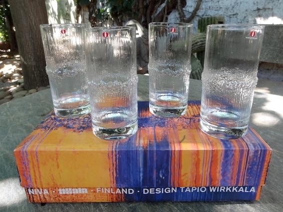 IITTALA Niva Drinking Glasses Tapio Wirkkala Original Box