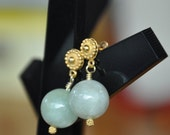 Gold Vermeil over Sterling Silver Aquamarine Earrings