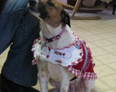 Reconstructed Recycled EcoFriendly Prototype Custom Dog Apparel Coat Dress Reserved