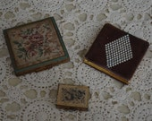 SALE- Instant Collection- 2 vintage compacts & pill box