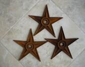 Vintage Metal Stars- Set of 3 XLarge