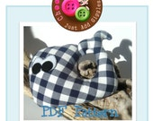 PDF Pattern - Wilber Whale Plush with Rattle