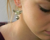 Baby Ginkgo Pierced Earring with lampworked beads