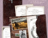 Wild West Wedding Invitation Suite DP WSTRN-02