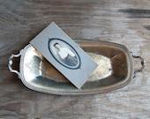 Vanity Tray -  Victorian Silver Rustic