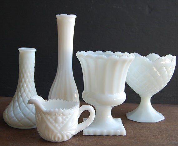 Milk Glass Vase Collection