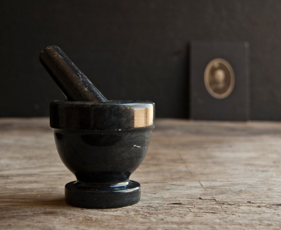 Mortar and Pestle - Vintage Victorian Marble