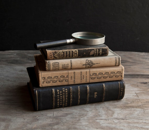 RESERVED Antique Rustic Book Collection