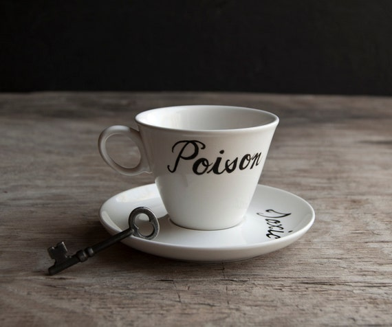Poison and Toxic Teacup and Saucer