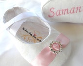 WHITE, Baby Girl Shoes, FREE Personalization, Wedding Shoes, Baptism Shoes, personalized baby girl shoes