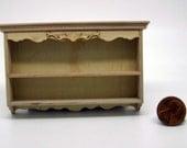 Miniature dollhouse furniture plate rack undecorated - code  VMJ 1121
