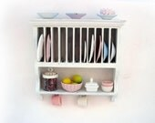 Miniature dollhouse furniture shabby chic drainer cabinet