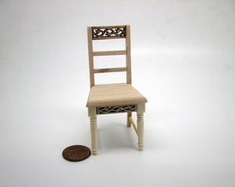 Miniature dollhouse furniture undecorated chair - code VMJ 3010