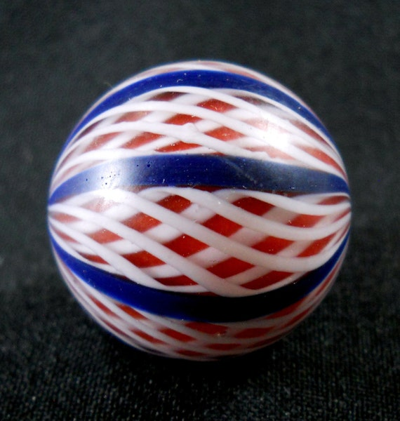 American Trade Bead - Texas - Ball bead. Hollow blown boro glass lampwork. Relisted, original price 35.00